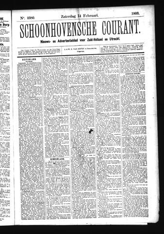 Schoonhovensche Courant 1903-02-14