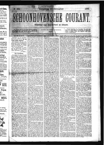 Schoonhovensche Courant 1886-12-25