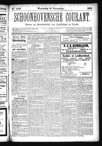Schoonhovensche Courant 1919-12-31