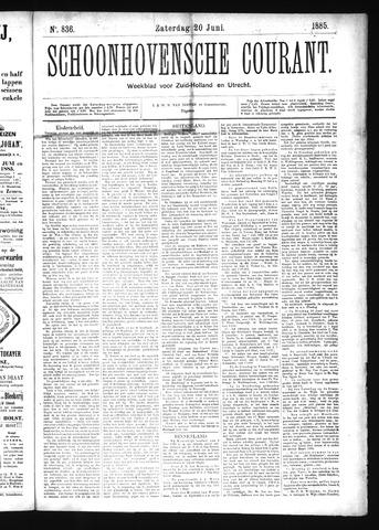 Schoonhovensche Courant 1885-06-20