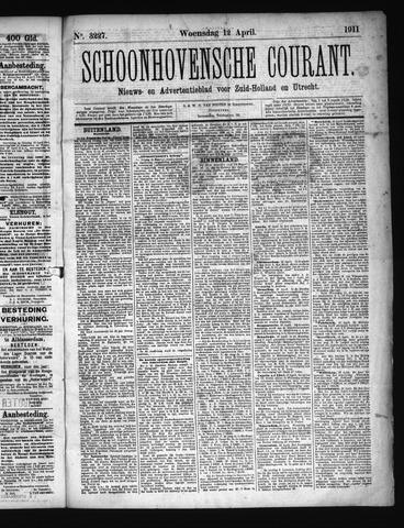 Schoonhovensche Courant 1911-04-12