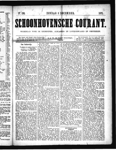 Schoonhovensche Courant 1872-12-08