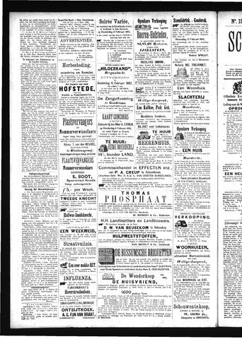 Schoonhovensche Courant 1892-02-06
