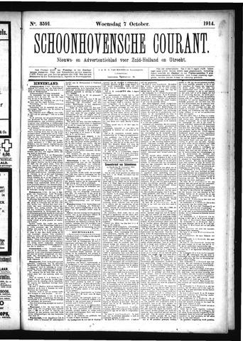 Schoonhovensche Courant 1914-10-07