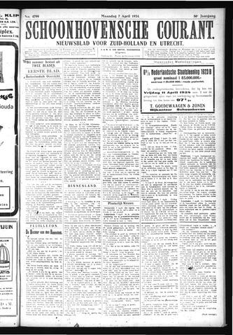 Schoonhovensche Courant 1924-04-07