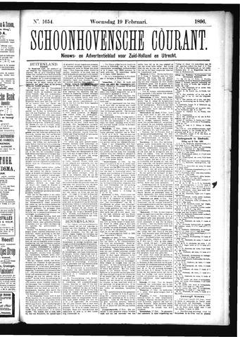 Schoonhovensche Courant 1896-02-19