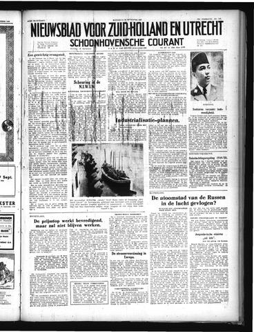 Schoonhovensche Courant 1949-09-28