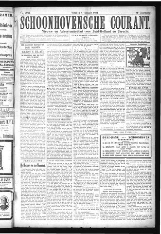 Schoonhovensche Courant 1924-01-04