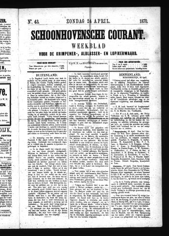 Schoonhovensche Courant 1870-04-24