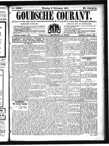 Goudsche Courant 1917-11-06