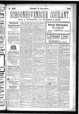 Schoonhovensche Courant 1918-12-10