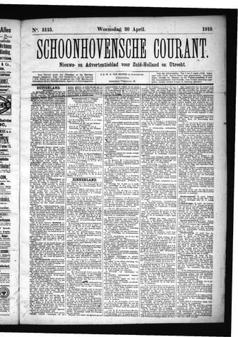 Schoonhovensche Courant 1910-04-20