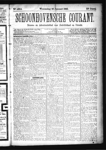 Schoonhovensche Courant 1921-01-26
