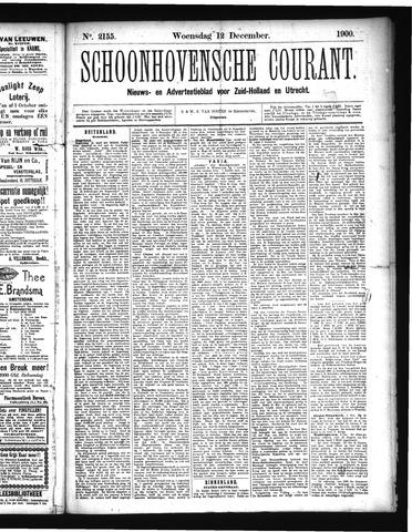 Schoonhovensche Courant 1900-12-12