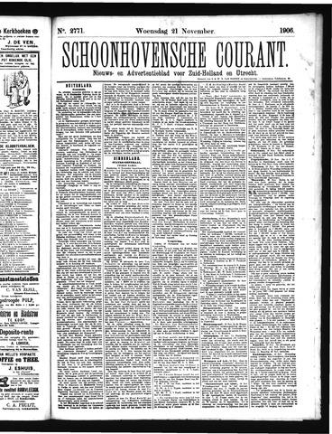 Schoonhovensche Courant 1906-11-21
