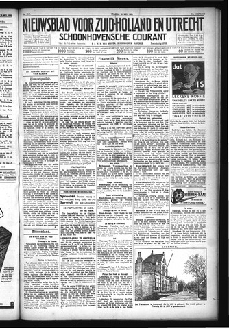 Schoonhovensche Courant 1932-05-20