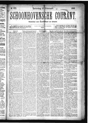Schoonhovensche Courant 1886-02-27