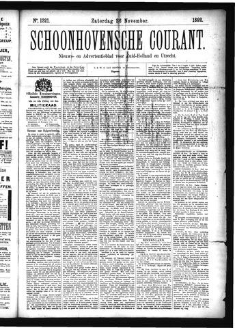 Schoonhovensche Courant 1892-11-26