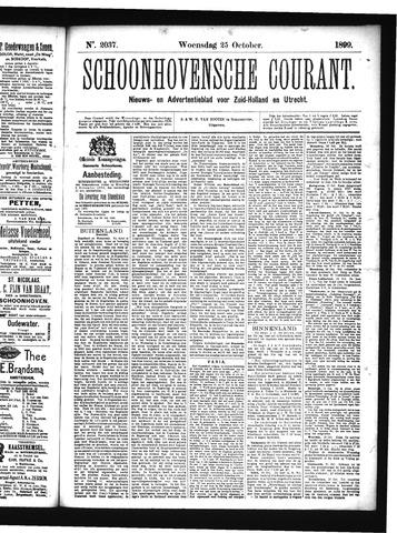 Schoonhovensche Courant 1899-10-25