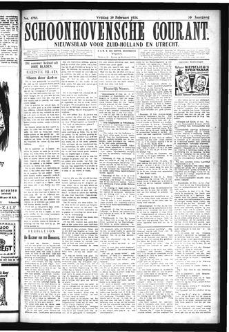 Schoonhovensche Courant 1924-02-29