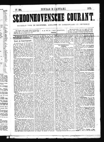 Schoonhovensche Courant 1875-01-31