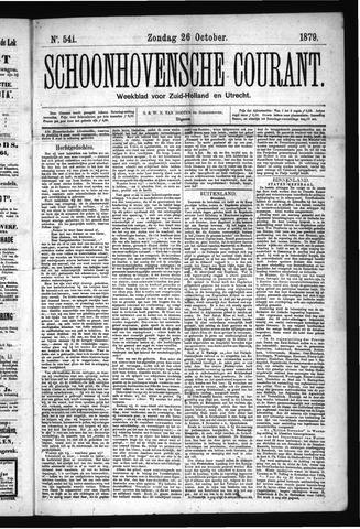 Schoonhovensche Courant 1879-10-26