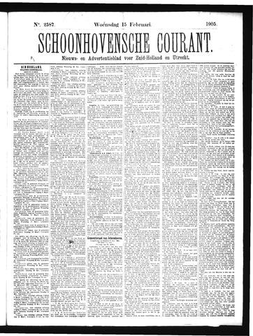 Schoonhovensche Courant 1905-02-15