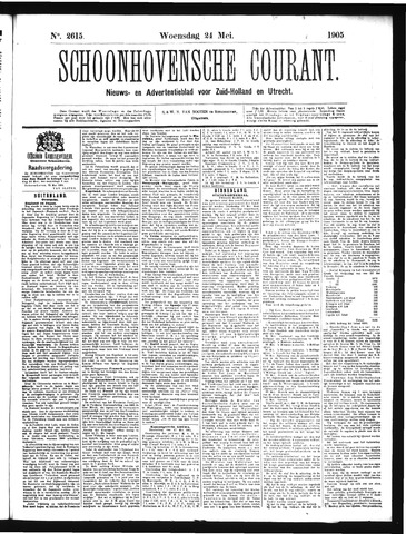 Schoonhovensche Courant 1905-05-24