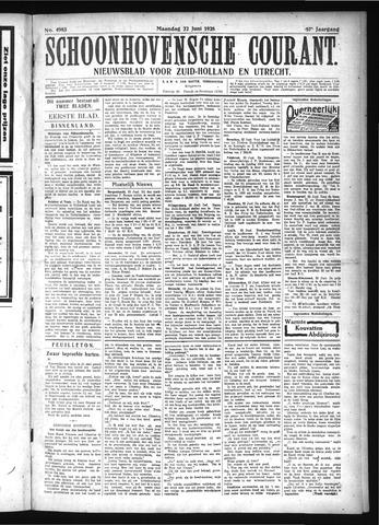 Schoonhovensche Courant 1925-06-22