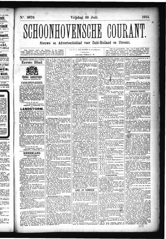 Schoonhovensche Courant 1915-07-30