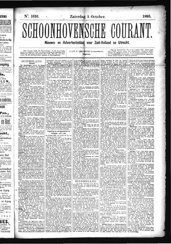 Schoonhovensche Courant 1895-10-05