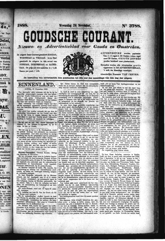 Goudsche Courant 1888-11-28