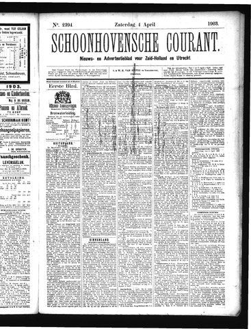 Schoonhovensche Courant 1903-04-04