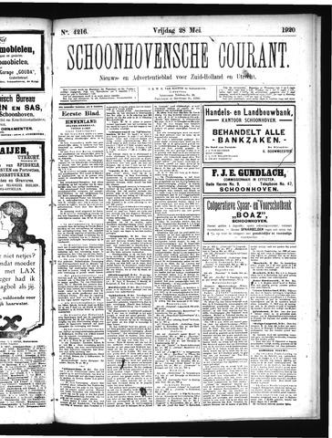 Schoonhovensche Courant 1920-05-28