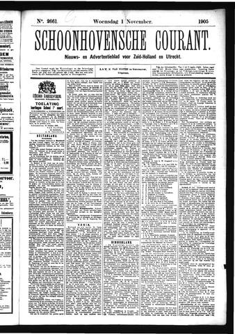 Schoonhovensche Courant 1905-11-01