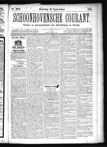 Schoonhovensche Courant 1911-09-30