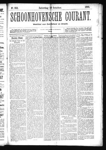 Schoonhovensche Courant 1885-10-10