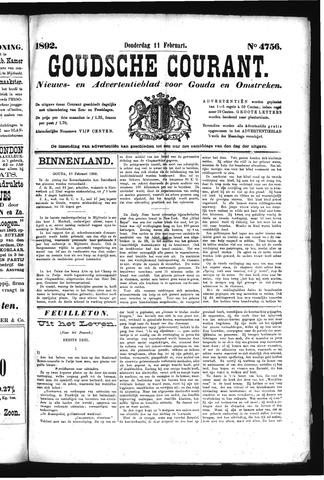 Goudsche Courant 1892-02-11