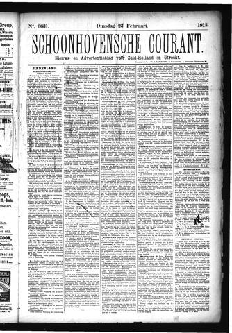 Schoonhovensche Courant 1915-02-23