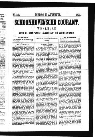 Schoonhovensche Courant 1871-08-27