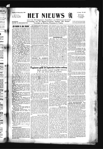 Schoonhovensche Courant 1945-09-14