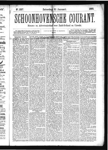Schoonhovensche Courant 1893-01-21