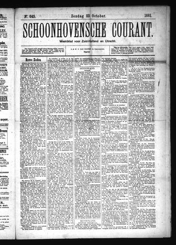 Schoonhovensche Courant 1881-10-23
