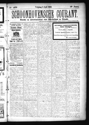 Schoonhovensche Courant 1921-07-08