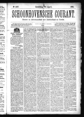Schoonhovensche Courant 1891-04-25