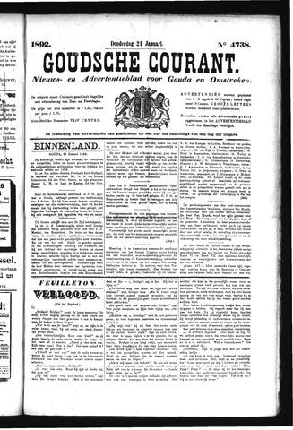 Goudsche Courant 1892-01-21