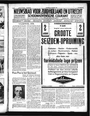 Schoonhovensche Courant 1939-12-30