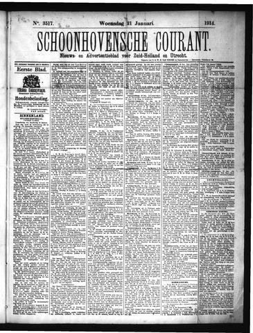Schoonhovensche Courant 1914-01-21
