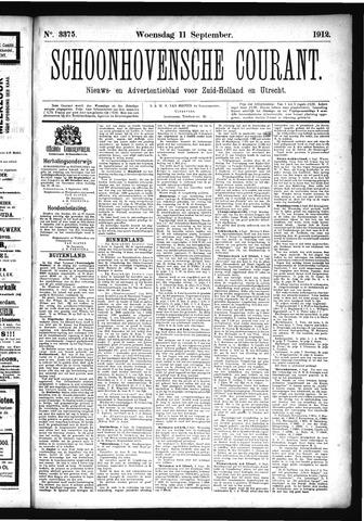 Schoonhovensche Courant 1912-09-11