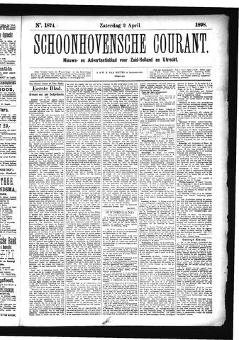 Schoonhovensche Courant 1898-04-02